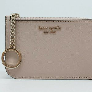 KATE SPADE NEW YORK MEDIUM LZIP CARD HOLDER WALLET